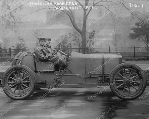Vanderbilt Auto Race American Roadster 1909 Vintage 8x10 Reprint Of Old Photo
