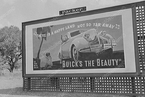 Buick's The Beauty Billboard 1900s 4x6 Reprint Of Old Photo