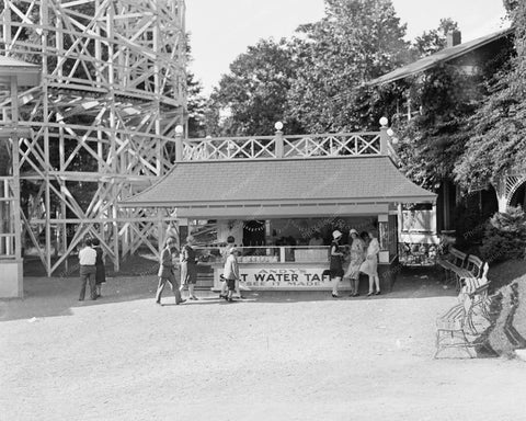 Glen Echo Salt Water Taffy Booth 8x10 Reprint Of Old Photo