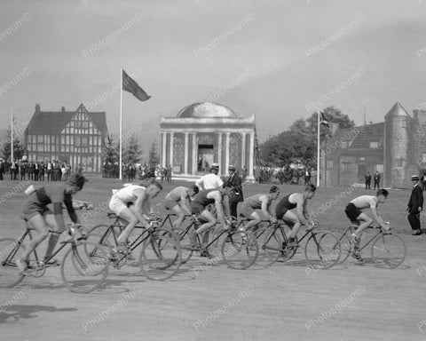 Bike Race Vintage 1926 8x10 Reprint Of Old Photo