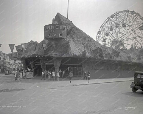 Coney Island Tunnels Of Love 8x10 Reprint 1924 Old  Photo