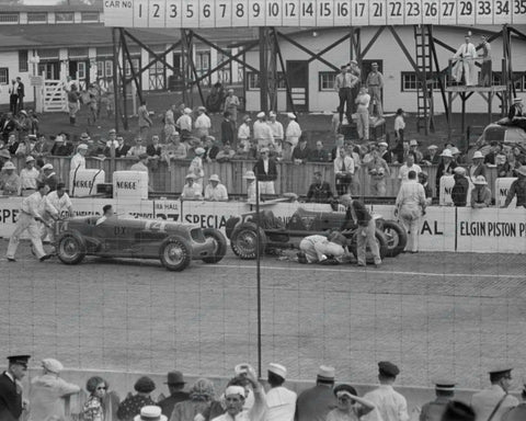 Automobile Races Indianapolis Indiana 1938  Vintage 8x10 Reprint Of Old Photo - Photoseeum