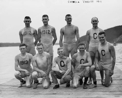 Cornell Varsity Rowing Team 1911 Vintage 8x10 Reprint Of Old Photo