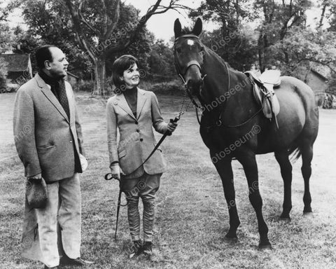 Jackie Kennedy & Pakistan President W Horse Vintage 1960s Reprint 8x10 Old Photo