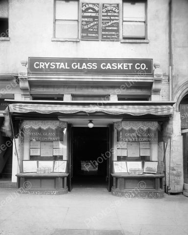 Crystal Glass Casket Co Store Front 1900 8x10 Reprint Of Old Photo