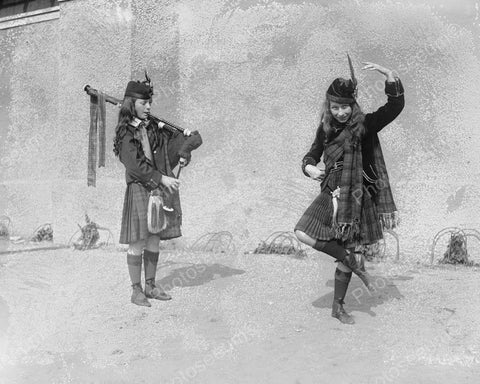 Bag Pipe Dancing Girls! 8x10 Reprint Of Old Photo