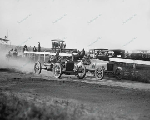 Auto Race Action Shot 1922 Vintage 8x10 Reprint Of Old Photo