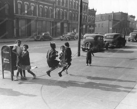 Young Girls Jump Rope On Chicago Street Old 8x10 Reprint Of Photo - Photoseeum