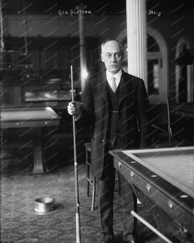 Billiards Champion George Slosson 8x10 Reprint Of 1910s Old Photo