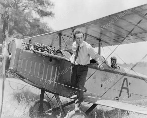 Houdini Stands On Airplane! 1900s 8x10 Reprint Of Old Photo