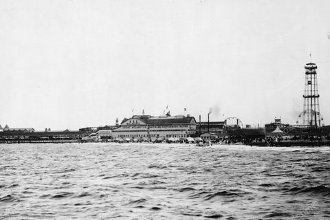 Coney Island Beach &  Building 1900s 4x6 Reprint Of Old Photo