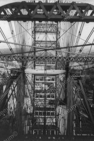 Ferris Wheel Close Up Chicago 1800s 4x6 Reprint Of Old Photo