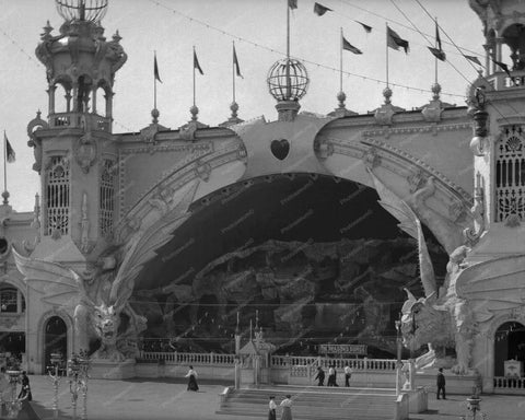 Coney Island The Dragons Gorge Luna Park  8x10 Reprint Of 1906 Old  Photo