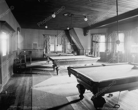 Billard Hall Paul Smiths Casino1905 Vintage 8x10 Reprint Of Old Photo