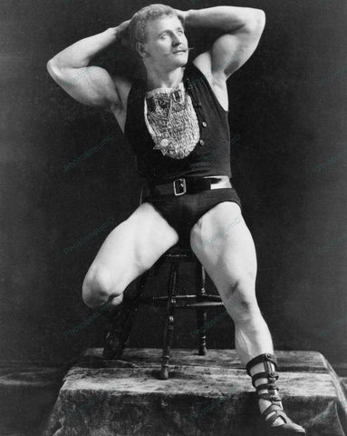 Eugen Sandow Wrestler Shows Muscles 1893 Vintage 8x10 Reprint Of Old Photo
