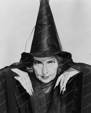 "Agnes Moorehead Vintage ""Witch"" 8x10 Reprint Of Old Photo"