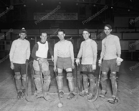 Ball Hockey Players 1926 Vintage 8x10 Reprint Of Old Photo