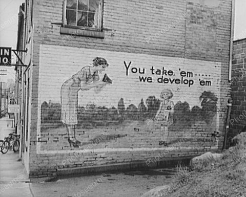You Take Em We Develop Em Billboard 1938 Vintage 8x10 Reprint Of Old Photo