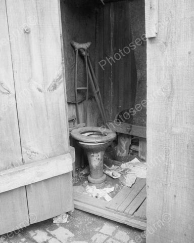 Antique Wooden Privy Viintage 8x10 Reprint Of Old Photo