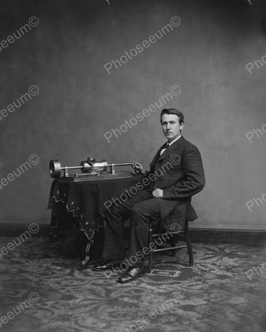 Thomas Edison 1880 Vintage 8x10 Reprint Of Old Photo