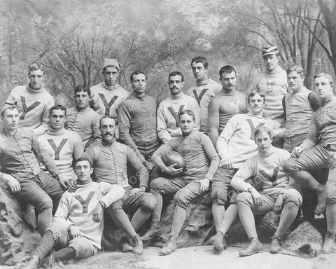 Yale Football Team 1887 Vintage 8x10 Reprint Of Old Photo