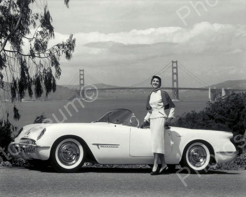 Chevrolet Corvette Automobile 1953 Vintage 8x10 Reprint Of Old Photo - Photoseeum