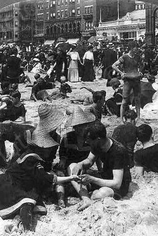Atlantic City Beach Fortune Telling 1900s 4x6 Reprint Of Old Photo - Photoseeum