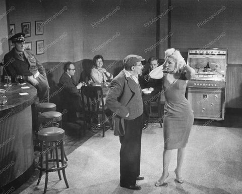 Curvaceous Blonde Dancing Rockola Jukebox Vintage 8x10 Reprint Of Old Photo 1