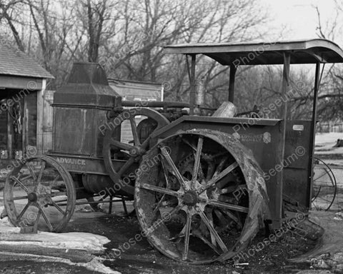 Advance Rumely Farm Steam Tractor 1930s 8x10 Reprint Of Old Photo - Photoseeum