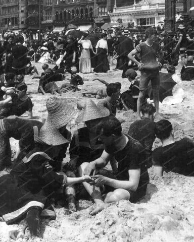 Atlantic City Beach Fortune Telling 1900 8x10 Reprint Of Old Photo - Photoseeum