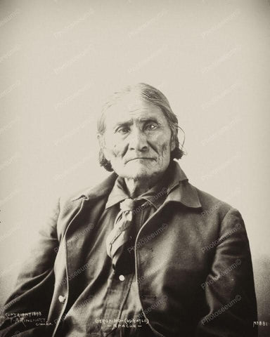 Geronimo Apache Indian Portrait 1890s 8x10 Reprint Of Old Photo