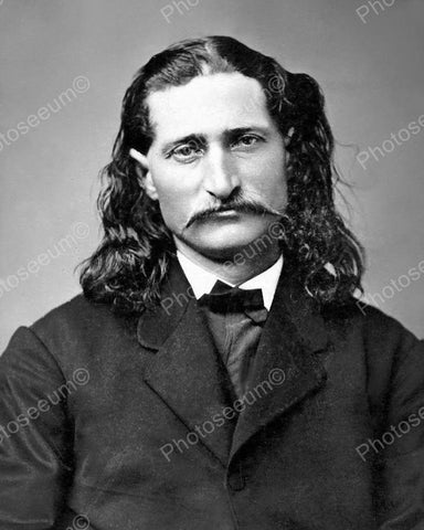 Wild Bill Hickok Portriat Vintage 8x10 Reprint Of Old Photo