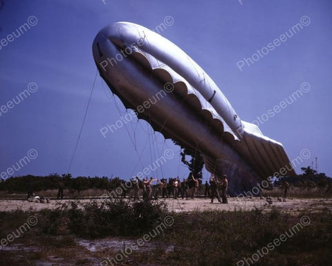 Barrage Balloon Launching 1940s 8x10 Reprint Of Old Photo