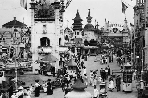 Coney Island Luna Park Main Street 4x6 1920s Reprint Of Old Photo - Photoseeum