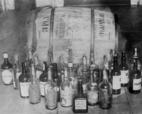 Confiscated Whiskey Vintage 8x10 Reprint Of Old Photo
