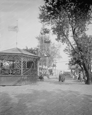 Arlington Beach Ferris Wheel Virgina 8x10 Reprint Of Old Photo