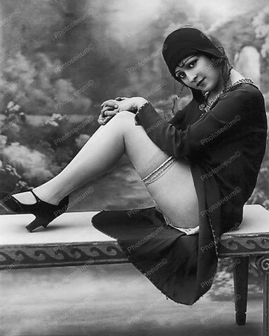 Sexy 1920s Flapper Girl Vintage 8x10 Reprint Of Old Photo