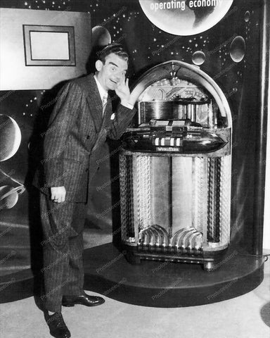 Wurlitzer Jukebox Model 1100 8x10 1948 Reprint Of Old Photo