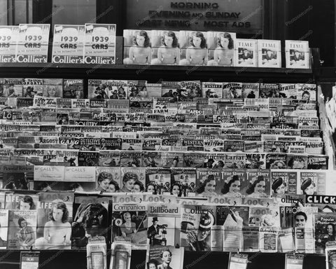 News Stand With Magazines & Comics 1939 8x10 Reprint Of Old Photo