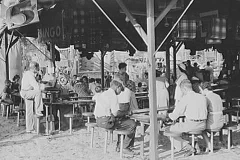 Florida State Fair Bingo Scene 4x6  1930s Reprint Of Old Photo