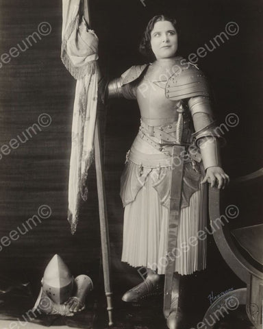 Woman In Medevial Costume Viintage 8x10 Reprint Of Old Photo