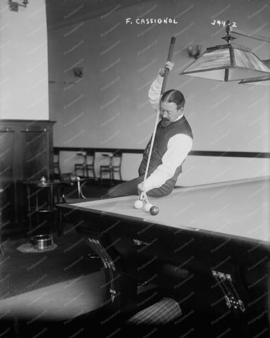 French Billiards Champ Cassignol 1890s 8x10 Reprint Of Old Photo 1