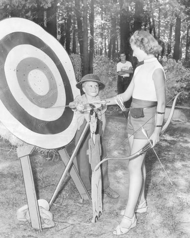 Archery Bullseye Target Practice Vintage 8x10 Reprint Of Old Photo