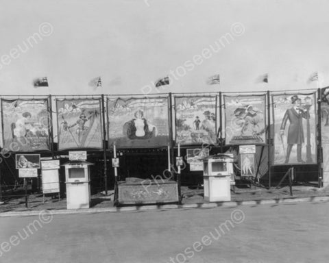 Vintage Sideshow Banners Old 8x10 Reprint Of Photo
