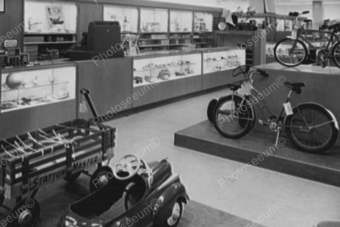Dept Store With Pedal Car, Wagon, Bicycle 4x6 Reprint Of Old Photo