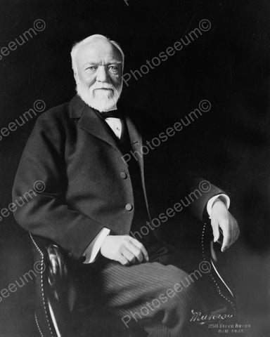 Andrew Carnegie 1913 Vintage 8x10 Reprint Of Old Photo