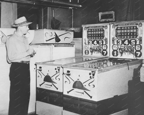 Bally Jockey Club 1941 Payout Pinball Machine 8x10 Reprint Of Old Photo