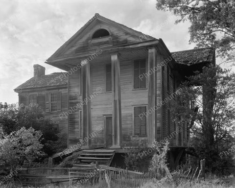 Abandoned Mansion 1940's Vintage 8x10 Reprint Of Old Photo - Photoseeum