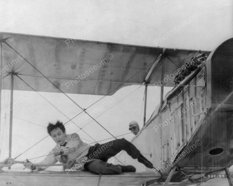 Houdini Laying On Airplane Wing 1900s 8x10 Reprint Of Old Photo