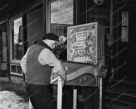 Broadway Bingo Machine Confiscated Pinball Vintage 8x10 Reprint Of Old Photo